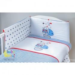 Ochraniacz do łóżeczka haft...